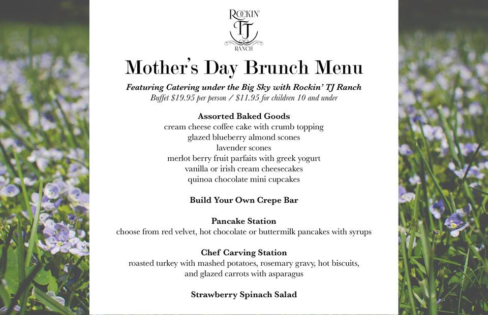 Mother's Day Brunch Menu